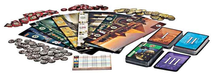 7 wonders contenuto gioco scatola