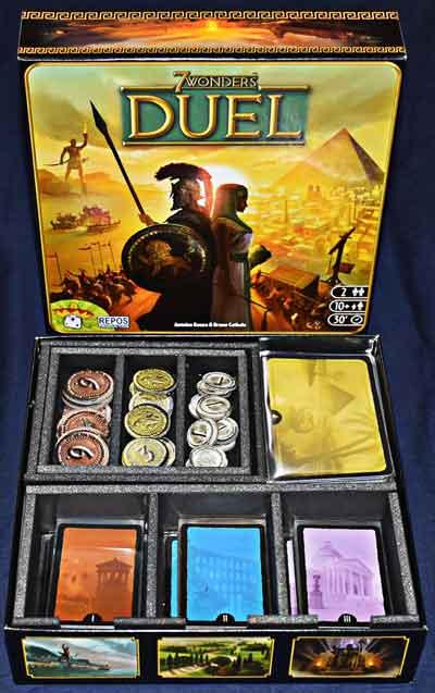 gioco scatola 7 wonders