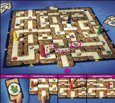 labirinto magico schema gioco