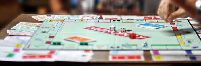 monopoly tabellone disposizione pedine