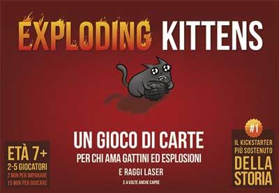 exploding kittens gioco società