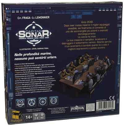 capitan sonar gioco scatola