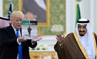 donald trump and saudi arabia labyrinth
