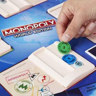 monopoly giro del mondo gioco tavola