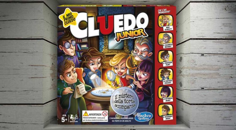 Cluedo Junior, il gioco da tavolo deduttivo per i più piccoli