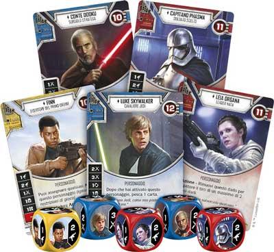 star wars destiny gioco tavolo dadi carte