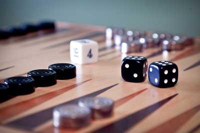 backgammon gioco scatola