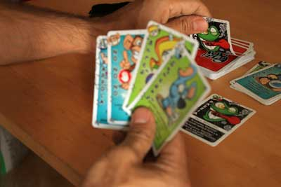 puupazzi gioco carte