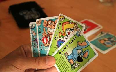 puupazzi gioco di carte