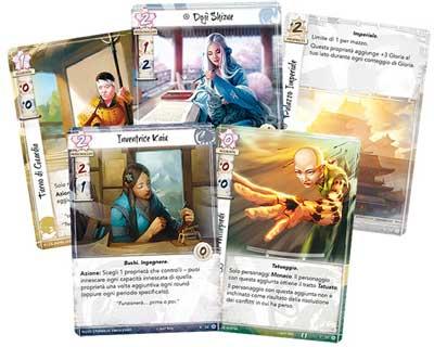 leggenda cinque anelli carte