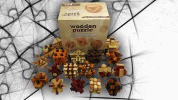 18 rompicapo legno