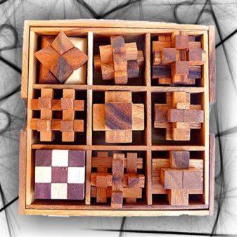9 rompicapo legno