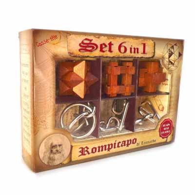 6 rompicapo in legno