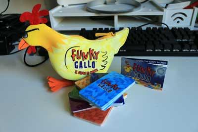funky gallo gioco scatola