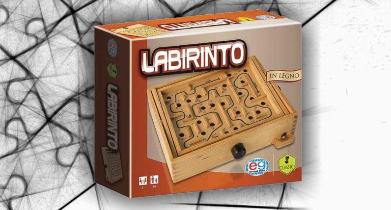 Labirinto. Un gioco di abilità e equilibrio in legno