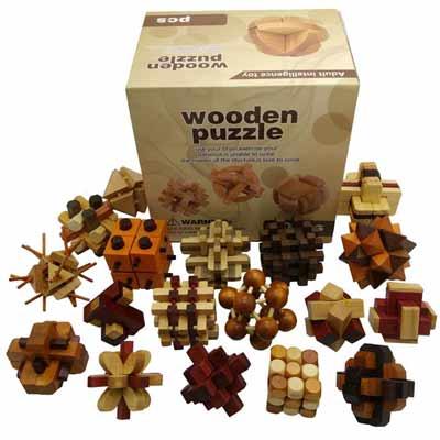 18 Rompicapo in legno