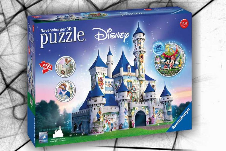 castello disney puzzle 3d