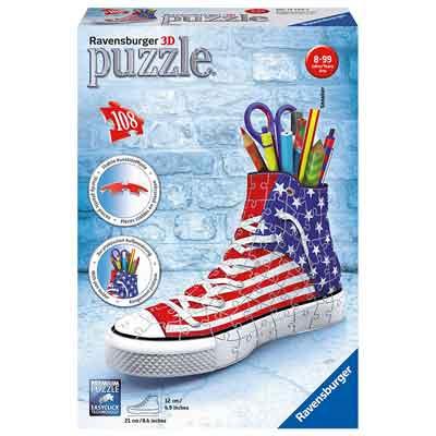 Portapenne a forma di scarpa Puzzle 3d