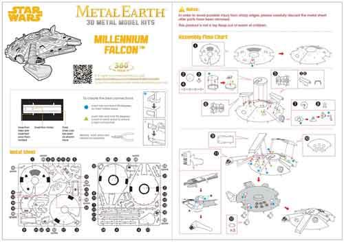 millennium falcon istruzioni