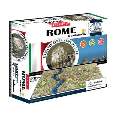 Roma e Città del Vaticano puzzle 4D