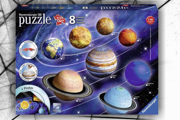 sistema solare puzzle 3d