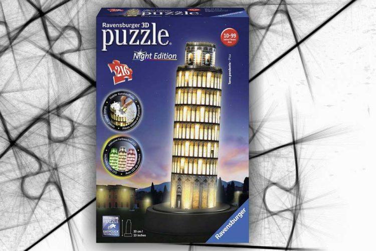 torre pisa puzzle 3d