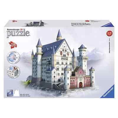 castello baviera puzzle 3d