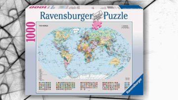 puzzle mappamondo politico 1000