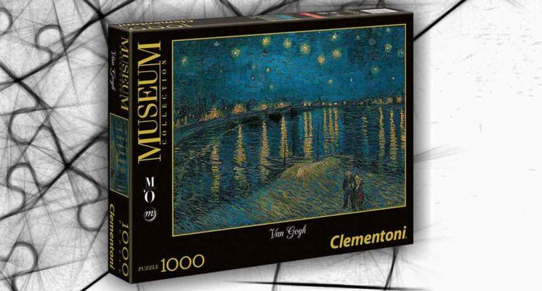 Notte Stellata sul Rodano, un puzzle da 1000 pezzi di Van Gogh
