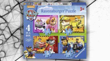 puzzle paw patrol 4 pezzi