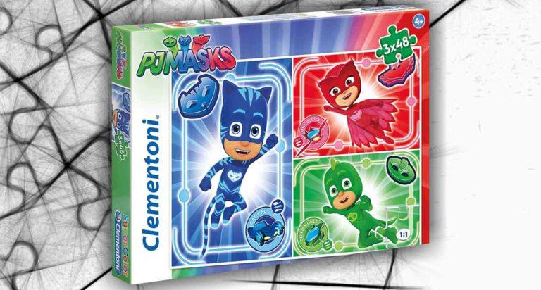 Tre puzzle per bimbi di Pj Masks