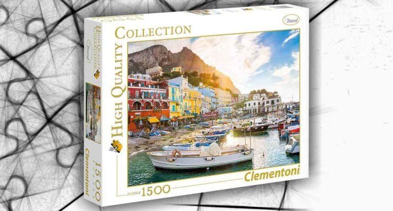 Capri, un luminoso puzzle da 1500 pezzi della Clementoni