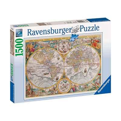 mappamondo politico puzzle 1500 pezzi