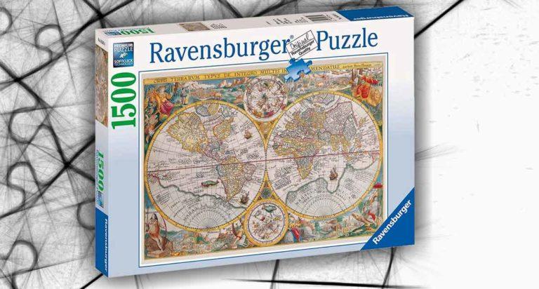 Mappamondo Storico, un puzzle da 1500 pezzi della Ravensburger