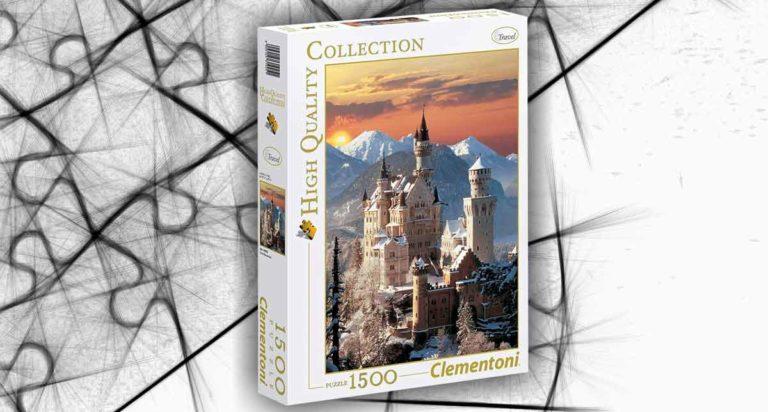 Castello di Neuschwanste in Baviera, un innevato puzzle da 1500 pezzi Clementoni