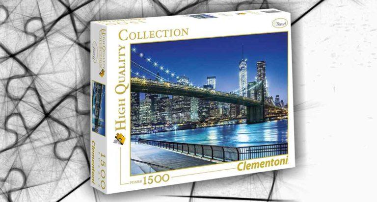 New York di notte in un puzzle Clementoni da 1500 pezzi