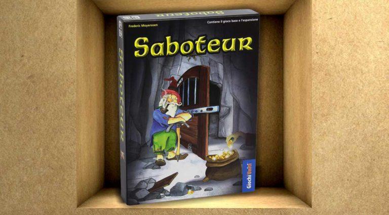 Saboteur, un gioco da tavolo di gruppo di nani e miniere