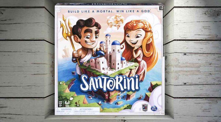 Santorini, un astratto gioco da tavolo di costruzioni e Dei