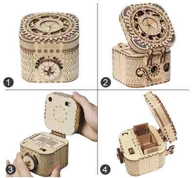 scatola tesoro puzzle 3D