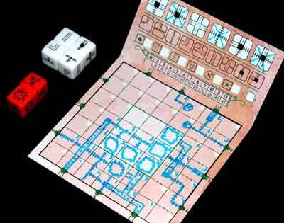 strade inchiostro rosso gioco scatola