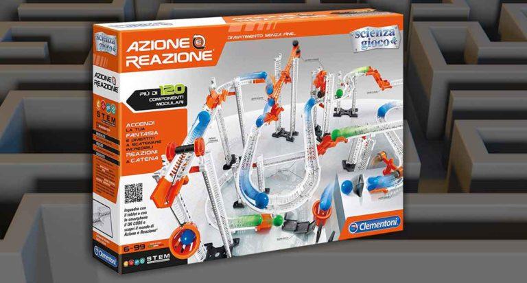 Azione e reazione, un labirinto componibile della Clementoni dove imparare la Fisica