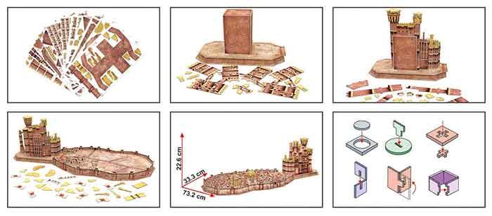 king landing puzzle 3d istruzioni
