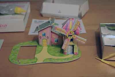 puzzle3D fattoria mulino vento