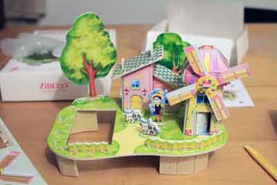 puzzle3D mulino vento