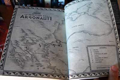 audace colpo vello oro mappa argonauti