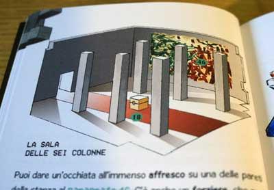 escape book tempio maledetto illustrazioni
