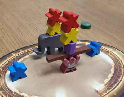 meeple circus gioco da tavolo