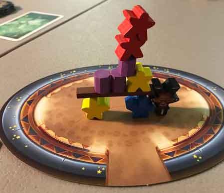 meeple circus gioco tavolo