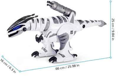 dinosauro robot giocattolo dimensioni