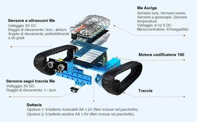 makebot robot gioco sensori